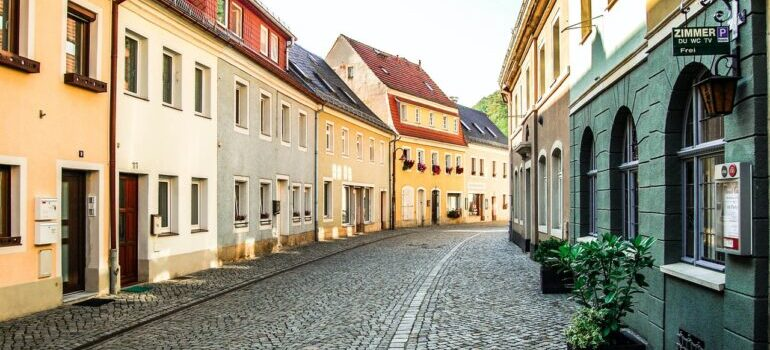 Pogled na ulicu u Nemačkoj